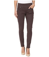 Jag Jeans Nora Pull On Skinny Freedom Colored Knit Denim In Grey Jewel Grey Jewel Women's Tan
