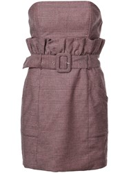 Fleur Du Mal Paperbag Dress Purple