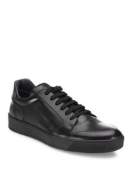 To Boot Low Top Calfskin Leather Sneakers Bordeaux Black