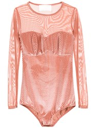 Lilly Sarti Tulle Bodysuit Pink And Purple