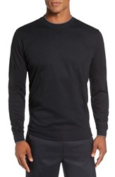 Bobby Jones Men's 'Walker' Tipped Pima Cotton Long Sleeve T Shirt Black