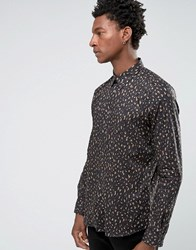 Paul Smith Smart Shirt With All Over Camo Animal Print In Tailored Slim Fit Green Green