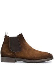 Officine Creative Suede Chelsea Boots Brown