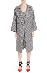 Simon Miller Houndstooth Double Breasted Coat Large Houndstooth
