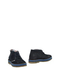 Le Crown Ankle Boots Dark Blue