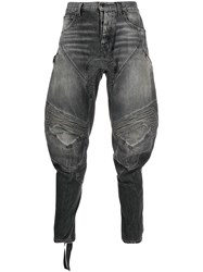 Unravel Project Tapered Biker Jeans Grey