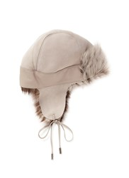 Karl Donoghue Pintos Toscana Lambskin Shearling Trapper Hat Neutral