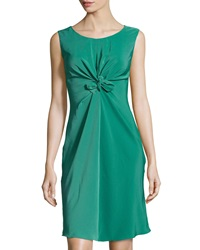 Philosophy Di Alberta Ferretti Knotted Front Sleeveless Dress Teal