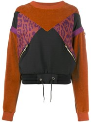 Just Cavalli Contrast Panelled Jumper Black