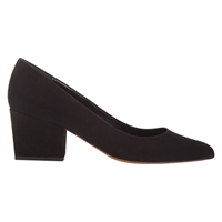 Whistles Avril Leather Pointed Block Heels Court Shoes Black
