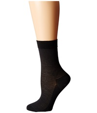 Wolford Cotton Stripes Socks Anthracite Black Women's Crew Cut Socks Shoes