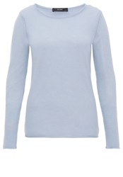 Hallhuber Fine Knit Cashmere Pullover Light Blue