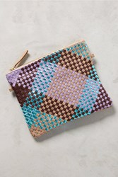Anthropologie Woven Pouch Lilac