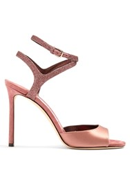 Jimmy Choo Helen 100Mm Satin Sandals Pink Multi