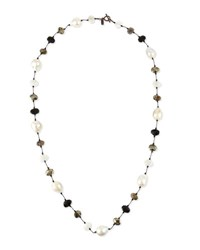 Margo Morrison Baroque Pearl And Pyrite Station Necklace 34