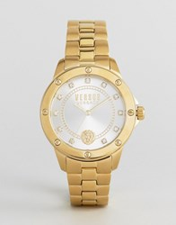 Versus By Versace S2803 South Horizons Bracelet Watch In Gold