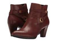 Anne Klein Chelsey Cognac Leather Women's Shoes Brown