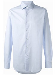 Xacus Classic Cut Button Up Shirt Blue