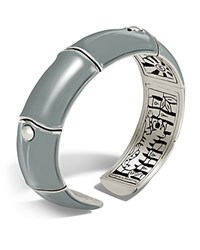 John Hardy Sterling Silver Bamboo Kick Cuff In Gray Gray Silver