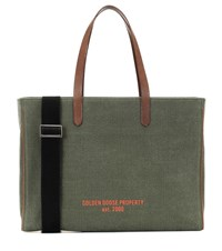 Golden Goose Property Canvas Shopper Green