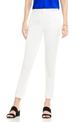 Vince Camuto Women's Double Weave Cotton Blend Ankle Pants New Ivory