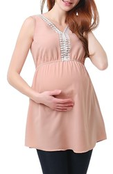 Kimi And Kai Women's Darla Lace Inset Maternity Top