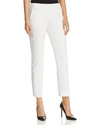 Emporio Armani Cropped Straight Leg Pants Silk White