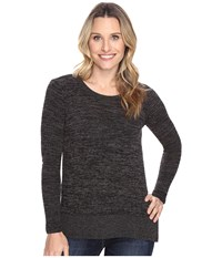 Mod O Doc Heather Sweater W Rib Long Sleeve Pullover Black Heather Women's Clothing