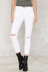 A Gold E Sophie High Rise Skinny Crop Jeans