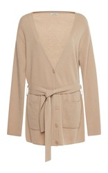 Nina Ricci Belted Cashmere Cardigan Brown