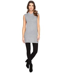 Fate Sleeveless Mock Neck Sweater Grey Women's Sweater Gray