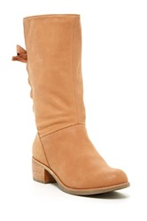Ugg Cary Lace Up Back Genuine Sheepskin Boot Beige