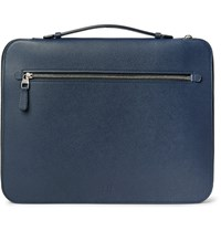 Dunhill Cadogan Full Grain Leather Portfolio Navy