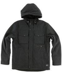 O'neill Men's Anchorage Jacket With Faux Fur Lining Black