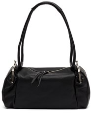 Yohji Yamamoto Zip Top Shoulder Bag Black