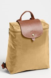 Longchamp 'Le Pliage' Backpack Beige