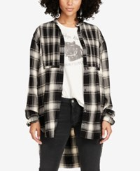 Denim And Supply Ralph Lauren Plaid Tuxedo Shirt Black White Plaid