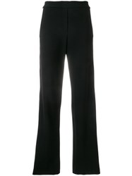 Theory Contrasting Stripes Trousers Black