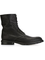 Robert Clergerie Military Boots Black