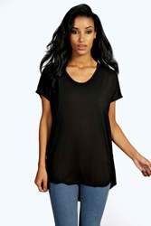 Boohoo Basic Oversized Tee Black