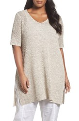 Eileen Fisher Plus Size Women's Organic Linen And Cotton Knit Tunic
