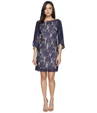 Lilly Pulitzer Bellmont Dress True Navy Paradise Found Lace Women's Dress