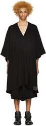 Nilos Black Knit V Neck Poncho