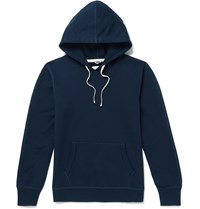 Reigning Champ Loopback Cotton Jersey Hoodie Blue