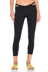 Solow Waistband Cutout Capri Black