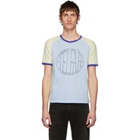 Telfar Blue Branded Raglan T Shirt