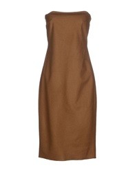Semi Couture Knee Length Dresses Camel