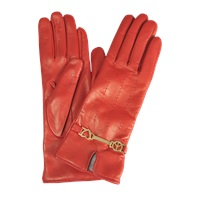 Moschino Peace And Love Leather Gloves