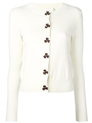 See By Chloe Round Neck Cardigan White