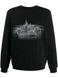 Emporio Armani Embroidered 'New York' Sweatshirt Black